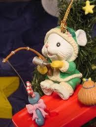 enesco christmas ornament christmas nite cap mouse on moon