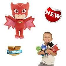 play pj masks bean owlette plush figures kids stuffed toy