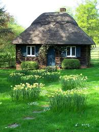 exterior design cozy fairytale cottages with fresh view and grass