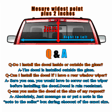 Confederate Flag Rear Window Decal Desert Lion Rear Window Graphic Decal Sticker Truck Suv Van Car