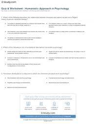 quiz u0026 worksheet humanistic approach in psychology study com