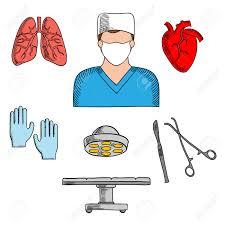 berufe mit design männlicher chirurg in bereit für den betrieb symbol für