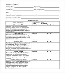 employee performance review template source