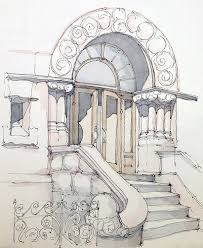 adams the mansion on the corner and watercolour