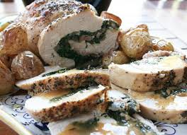 spinach and prosciutto stuffed turkey breast italian food forever