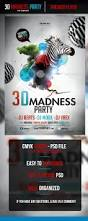 3d madness flyer template flyer template template and logos