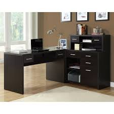 Buy L Shaped Desk Shop Monarch Specialties Contemporary Cappuccino L Shaped Desk At