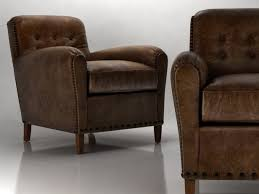 Leather Club Armchair Hyde Leather Club Chair 3d Model Restoration Hardware