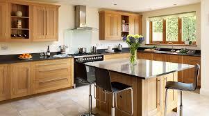 light oak kitchen table open plan oak shaker kitchen from harvey jones