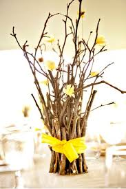 branches for centerpieces small branches wrapped in ribbon centerpieces budget brides