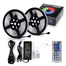led strip light kit rgb led strip lights chnano 10m tv backlight with remote control