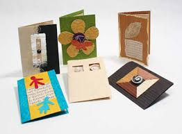 handmade paper crafted gift cards with envelopes invitations and