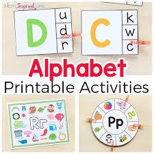 printable alphabet kindergarten alphabet printables and activities for preschool and kindergarten