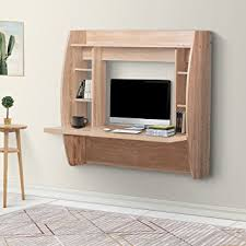 Wall Laptop Desk Devaise Wall Mounted Floating Desk With Storage Oak For