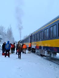Alaska Flag Meaning Alaska Railroad Transports Akonthego To A Winter Wonderland In
