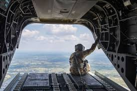 2 chinook helicopters from nebraska national guard haul much