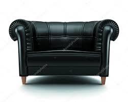 Black Leather Armchair Black Leather Chair U2014 Stock Photo Zarg 5618818