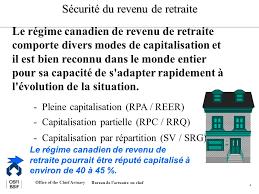 bureau de revenu canada office of the chief actuary bureau de lactuaire en chef 1 y a t il