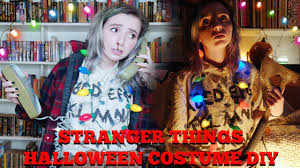 halloween light up necklaces stranger things house halloween costume diy youtube