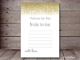 bridal advice cards bs040b 5 x7 gold flakes printabell create