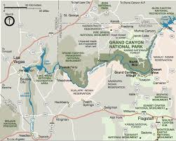 map of areas and surrounding areas maps grandcanyon
