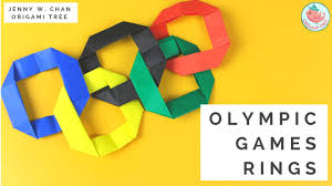 olympics 2016 kids paper crafts easy origami ring olympic