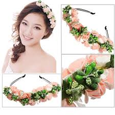 handmade floral crown flower headband hair garland wedding