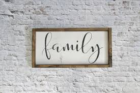 family wood sign rustic signs gallery wall decor farmhouse