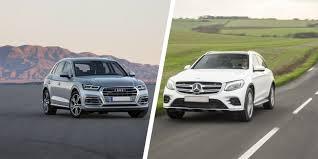 lexus nx vs mercedes glk mercedes glc vs audi q5 suv comparison carwow