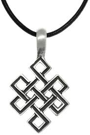 leather necklace knot images Jewelry trends pewter celtic open square knot pendant on black jpg