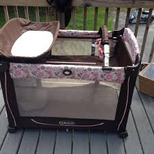 Pink And Brown Graco Pack N Play With Changing Table Find More Falmouth Portland Vguc Graco Pack And Play Brown With