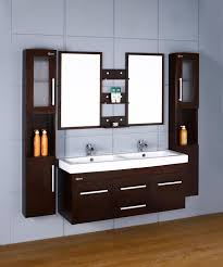 Wall Mount Bathroom Cabinet by Attractive Wall Mounted Bathroom Cabinet From Dark Wood Furniture