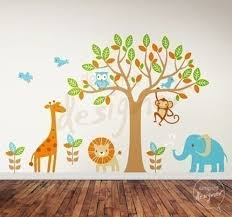 Safari Nursery Wall Decals Safari Playland Nursery Wall Sticker Mural Wall Sticker Outlet