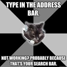 Tech Support Memes - type in the address bar not working probably because that s your
