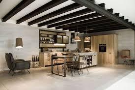 ilot cuisine repas design interieur îlot cuisine coin repas snaidero style industriel