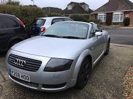 reduced 2001 silver audi tt quattro 225 roadster convertible