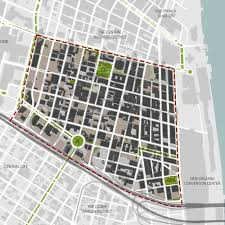 New Orleans Convention Center Map by District U0026 Neighborhood U2014 H3 Studio