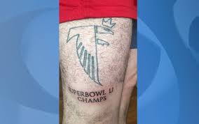falcons fan tempts fate with u0027super bowl li champs u0027 tattoo