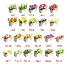 Fake Flowers For Wedding - 2017 new 2 fences 2 potted flower artificial flowers for wedding