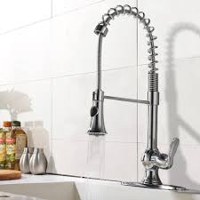 Faucet For Kitchen Sink Pampa Chrome Finish Single Handle Kitchen Sink Faucet With Pull