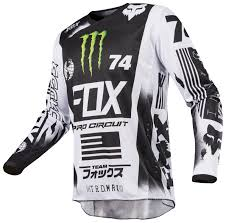 fox motocross jersey fox racing 180 monster pro circuit se jersey revzilla