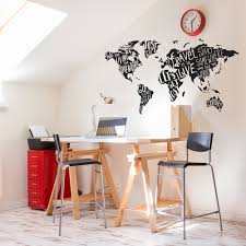 my type world jumbo map wall decals paper