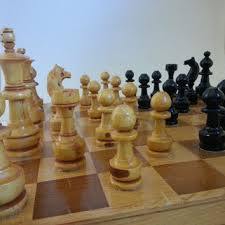 large wooden pieces vintage chess set vintage wooden chess from gtdesigns on etsy