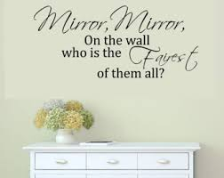 Mirror Mirror On The Wall Snow White Fairest Of Them All Etsy