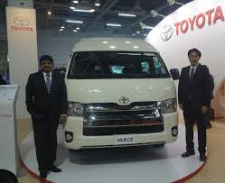 toyota hiace 2015 toyota hiace at the bus and special vehicles show india indian
