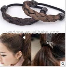 elastic hair band hairstyles human hair drawstring ponytail elastic hair ties plaited hair
