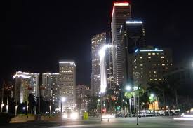 imagenes miami de noche downtown de noche photo