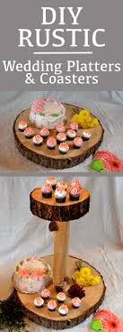 wedding platters diy rustic wedding cake platters coasters and place settings