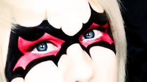 bat mask halloween halloween makeup bat inspired mask tutorial youtube