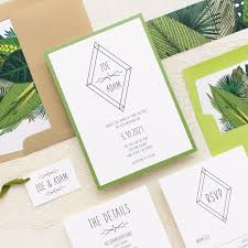 green leaf wedding invitations beacon lane